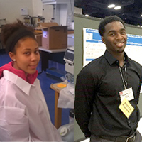 Voorhees biology students present scientific findings at a national conference
