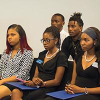 Voorhees student ambassadors meet with UNCF